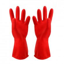 Перчатки Резиновые Утепленные Красные/120 пар/10пар